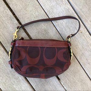 COACH Maroon Minibag